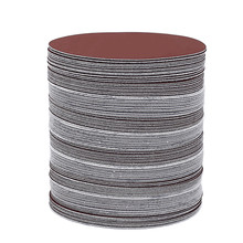 """Disques abrasifs, 5 """", 60 pièces/ensemble, 125mm, grain 80/100/120/180/240/320, crochets et boucles pour ponceuse"""