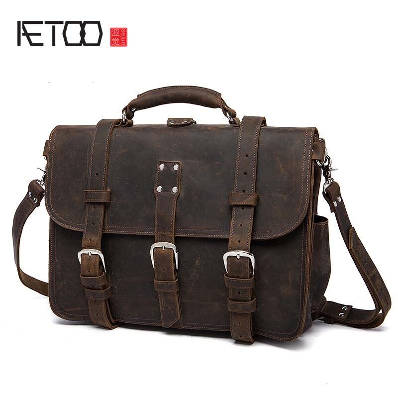 AETOO Factory direct nouveau cuir hommes sac hommes Messenger sac sac à bandoulière en-tête en cuir hommes sac casual 208