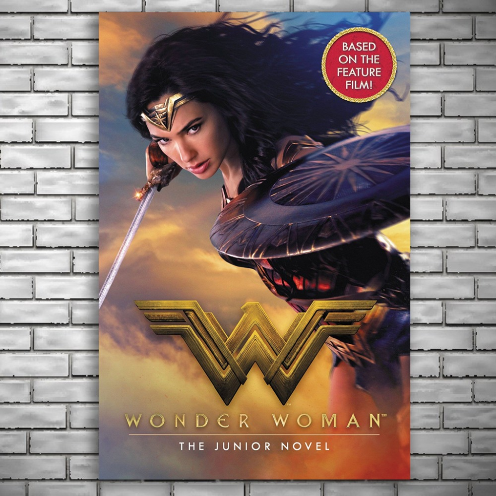 NUOMEE Wonder Woman Poster Superheroes Movie Silk Poster Prints 12x18 24x36 inch Wall Pictures for Living Room Home Decoration