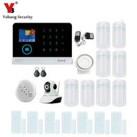 Yobang Security WCDMA/CDMA WIFI 3G GPRS Intelligent Alarm Systems Security Home WIFI SMS Smart Wireless Burglar Alarm IP Camera