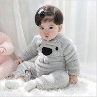 جديد الأطفال منامة الطفل الوليد ملابس الطفل القطن طويل الأكمام داخلية زي الفتيان الفتيات الخريف