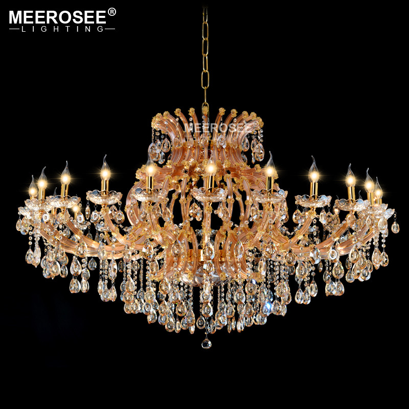 Projct Lamp Large Luxury Amber Crystal Chandelier Lighting Crystal - Indoor Lighting