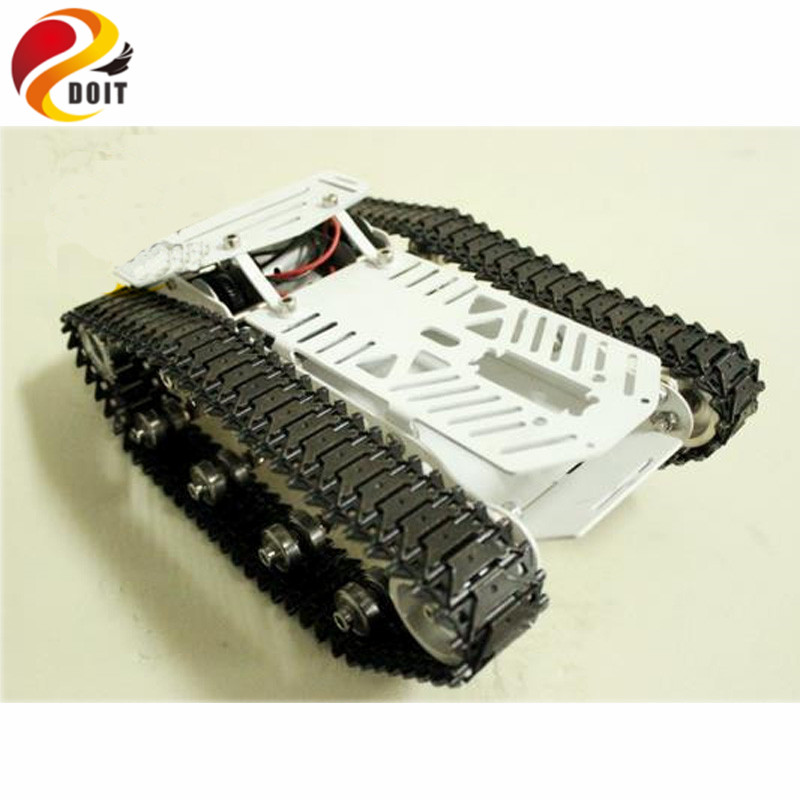 Official DOIT Full Metal Tank Car Chassis /All Metal Structure Big Size Load Large/ Obstacle-surmounting Tank Chassis big tank car chassis tracked car weight 8 5kg load carry more than 30kg obstacle surmounting robot parts for remote control