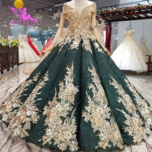 AIJINGYU pullu düğün elbisesi es törenlerinde Online alışveriş artı boyutu hint 500 altında müslüman 2021 2020 pelerin uzun düğün elbisesi dükkanı