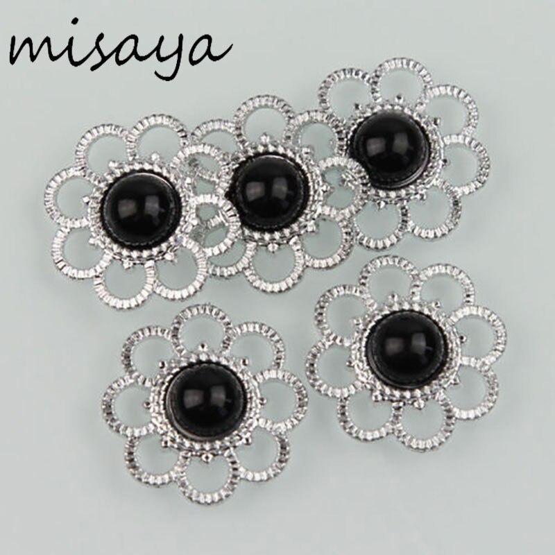 Misaya 30 шт. пуговица с жемчужиной и стразами новый стиль цветок Flatback Скрапбукинг для телефона Свадебные DIY Craft 13 цветов на выбор