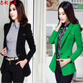 Fashion women blazers long sleeve slim jackets ladies Cape blazer design candy color Casual Coat