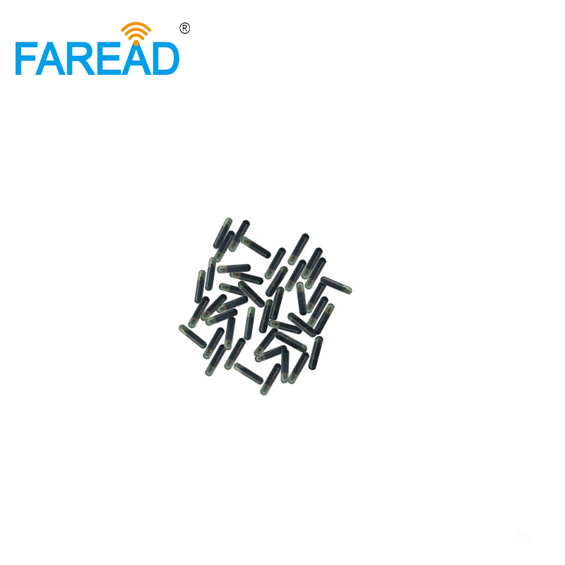 X60pcs Free ICAR Coding FDX-B RFID Glass Tag 2.12*12mm 134.2KHz Frequency ISO11784/85 Microchip For Tracking