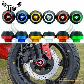 Wheel protection motorbike crash pads colorful Protector motorcycle crash protect motocross crash pad wheel frame slider moto фото
