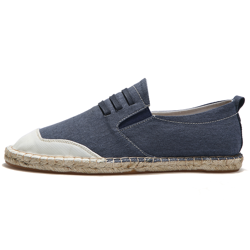 LAOCHRA Brand Male Canvas Espadrilles 2018 Top Sider Spring/Autumn - Men's Shoes - Photo 2