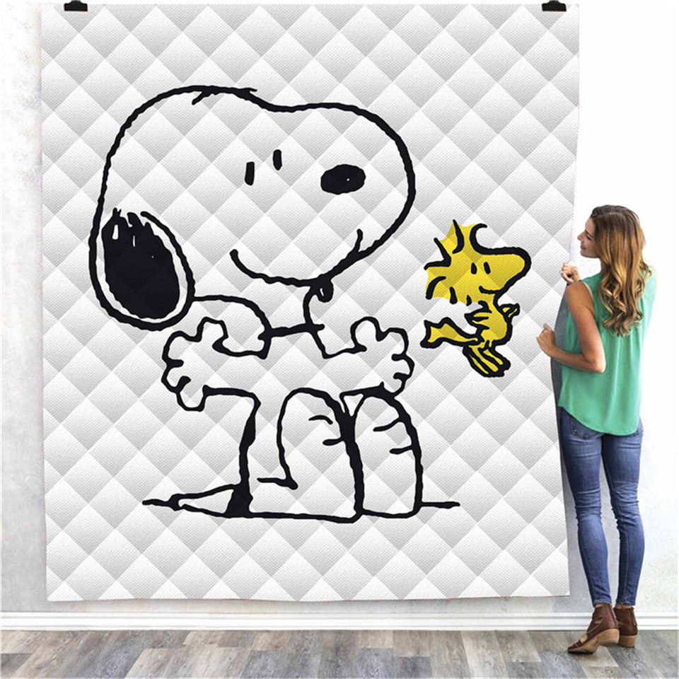 SOFTBATFY Snoopy Niche Print All Season Quilt For Bed Soft Warm Blanket Cotton Quilt Dropshipping