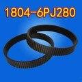 2 UNIDS Freeshipping PU Correa Poli Belt-1804-6PJ280 Cepilladora