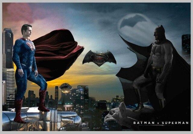 5x7FT Superman Logo Super Heroes Dark Sky City Custom Photo Studio Backdrop Background Vinyl 220cm X