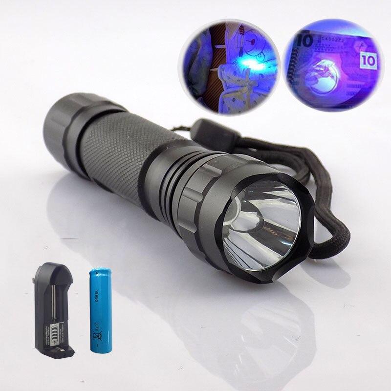 Lights & Lighting 18650 Battery 501 By Scientific Process Uv Led Flashlight Lamp 395nm Ultraviolet Flash Lamp Purple Color Linternas Lamp Torch Rechargeable Linterna Led Lighting