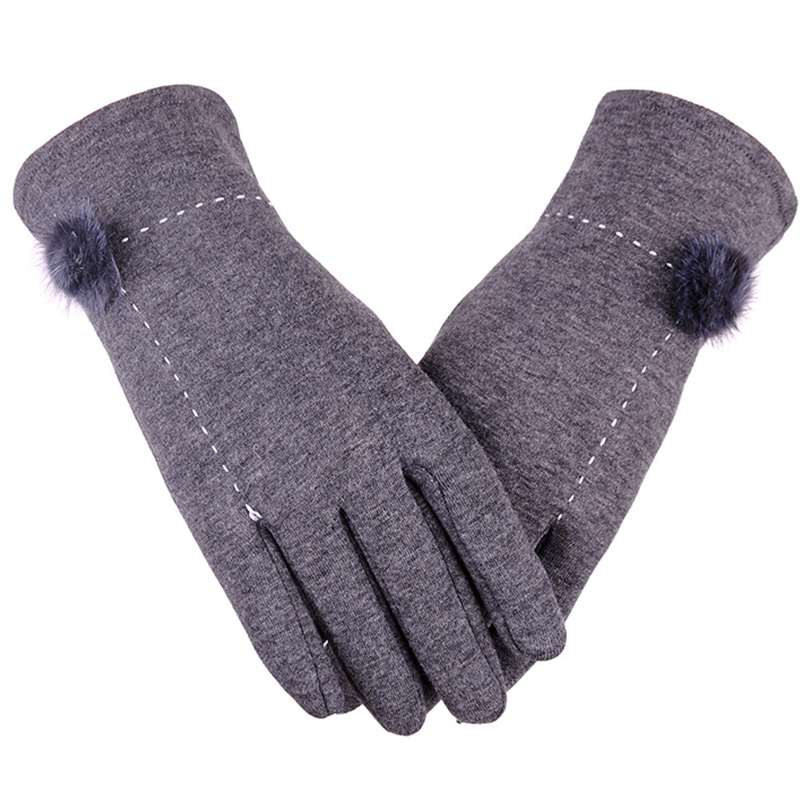 Full Finger 2018 Winter Outdoor Warm Fur for Screen Touch
