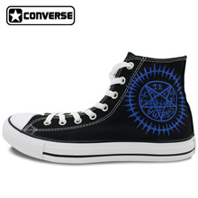 All Star Converse Mens Womens Shoes Anime Black Butler Contract Symbol Custom Design Hand Painted Shoes Boys Girls Sneakers