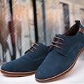 2016 Nuevos hombres de la Moda de Invierno Extremo Del Tendón de Cuero de Gamuza Zapatos Casuales Zapatos Oxford 38-48 Tamaño
