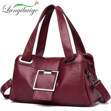 نساء حقائب يد جلدية خمر لينة جلد الإناث Crossbody حقائب كتف مصمم العلامة التجارية السيدات عالية السعة العليا حقائب بيد