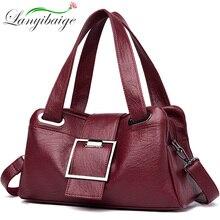 Women Leather Handbags Vintage Soft Leather Female Crossbody Shoulder Bags Designer Brand Ladies High Capacity Top Handle Bags