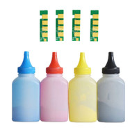 4 x Refill Color toner Powder + 4 chip CLT 409S clt 409s toner cartridge for Samsung CLX  3170FN 3175N 3175 3175FN 3175FW| | |  -