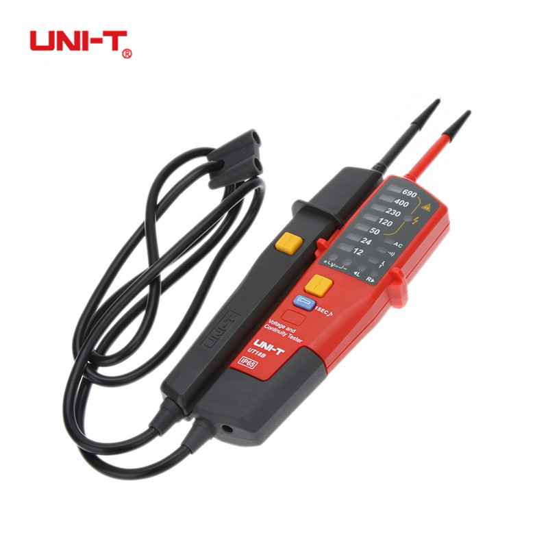 UNI-T UT18C/A/B/D Auto Range Digital Voltage Meter Continuity Tester LCD/LED Indication Date Hold RCD Testing Voltmeter Detector цена