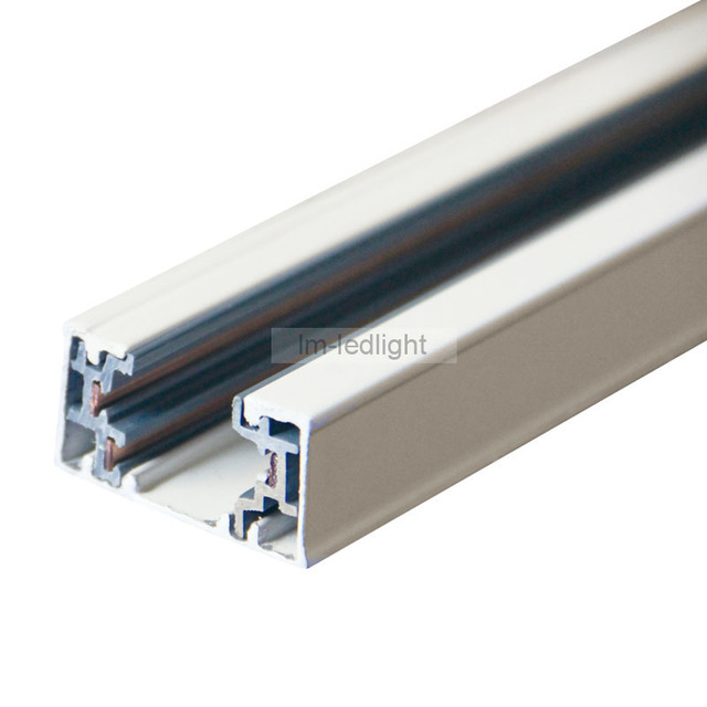 1 Metre Length Of 3 wire Track rail In White black Universal 3 wire ...