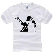 2015 verão famoso cantor Marca 100% Algodão homem camisetas t camisa t  dança mj Michael Jackson camisas top o-pescoço curto casu. 480777cd6