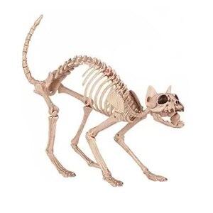 Image 1 - Esqueleto gato 100% plástico animal esqueleto ossos para assustador halloween decoração