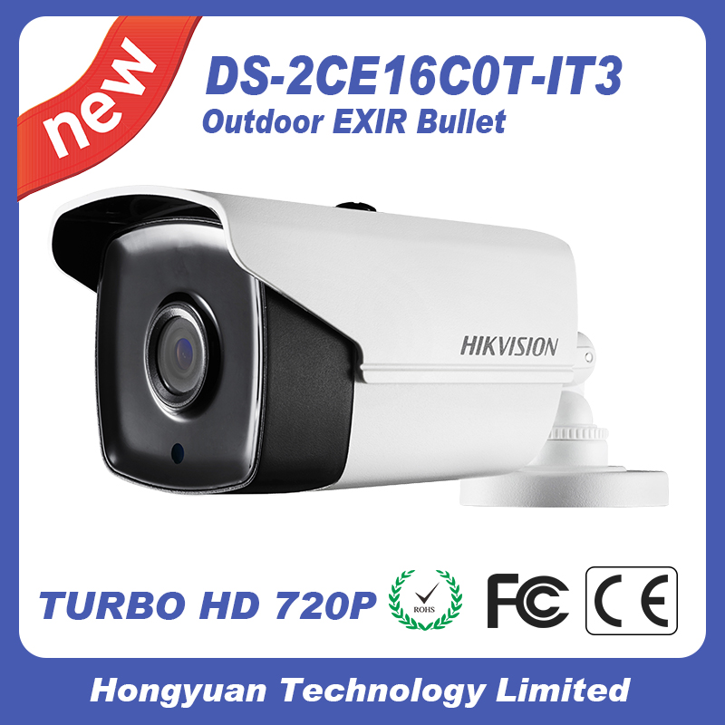 Bullet Camera DS-2CE16C0T-IT3 night camera Hikvision cctv camera HD720P IR hikvision ds 2ce16c0t ir 3 6mm original bullet camera outdoor analog camera ir tvi 720p 1mp