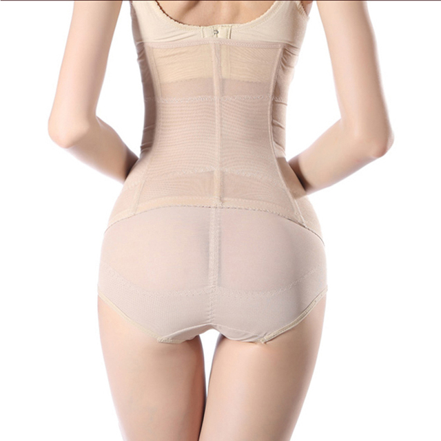 2015 Womens black long waist cincher slimmer Bind belt long waist trainer corsets steel boning sexy body shapers tummy trimmer 3