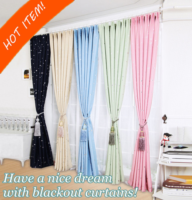 ONE PANEL Star Blackout Curtains For Bedroom Living Room Curtain Kids La Cortina Del