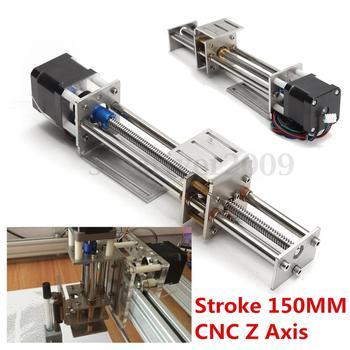 Movimiento Lineal deslizable del eje Z del CNC de la carrera de 50mm/150mm + Motor paso a paso NEMA17 para la máquina de grabado Reprap