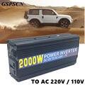 GSPSCN Car Potência Do Inversor DC 12 V para AC 220 V/110 V 2000 W Power Inverter Conversor Adaptador USB Carregador de Viagem de Carro de conversão elevada