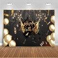 Happy Birthday Balloons Champagne Graduation Party Hintergrund für Fotografie Gold Dekoration Lieferungen für Fotografische Foto Prop-in Hintergrund aus Verbraucherelektronik bei