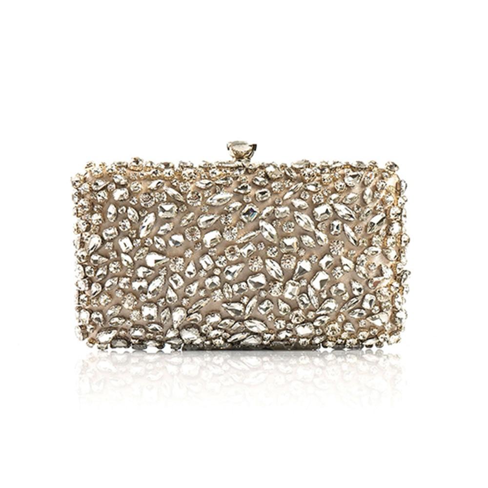 2019 Luxury Women Evening Bags Fashion Shiny Diamond Evening Clutch Women Brand Party Bridal Box Shoulder