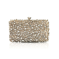 2019 Luxury Women Evening Bags Fashion Shiny Diamond Evening Clutch Women Brand Party Bridal Box Shoulder Bag Clutches Chain