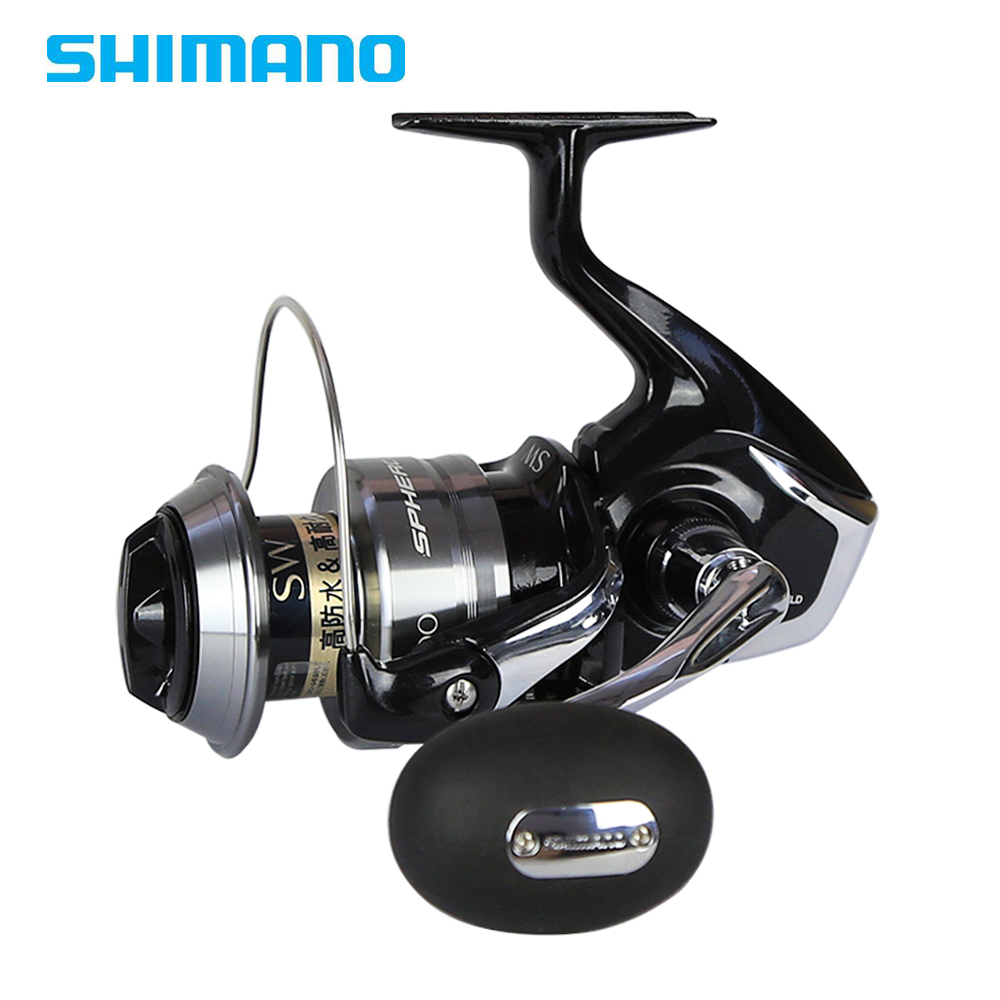 Shimano Original SPHEROS SW 5000 6000 8000 10000 Saltwater Spinning Fishing Reel 4+1BB Sea Fishing Front Drag Big Game