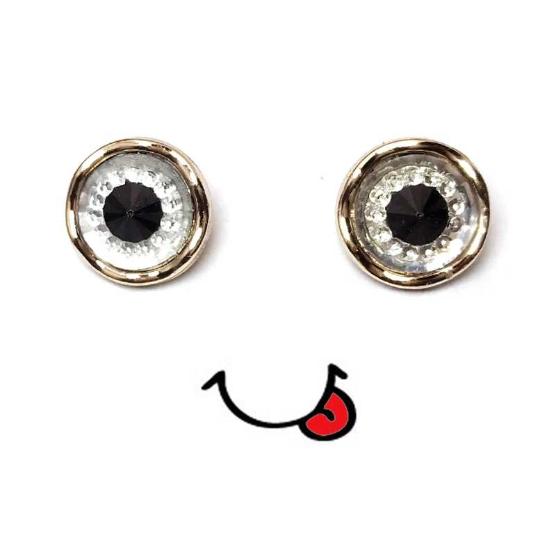 12.5mm Animal Eyes Resin Buttons Round Decorative Sewing Button for Children Sweater Clothing DIY Accessories Scrapbooking Craft