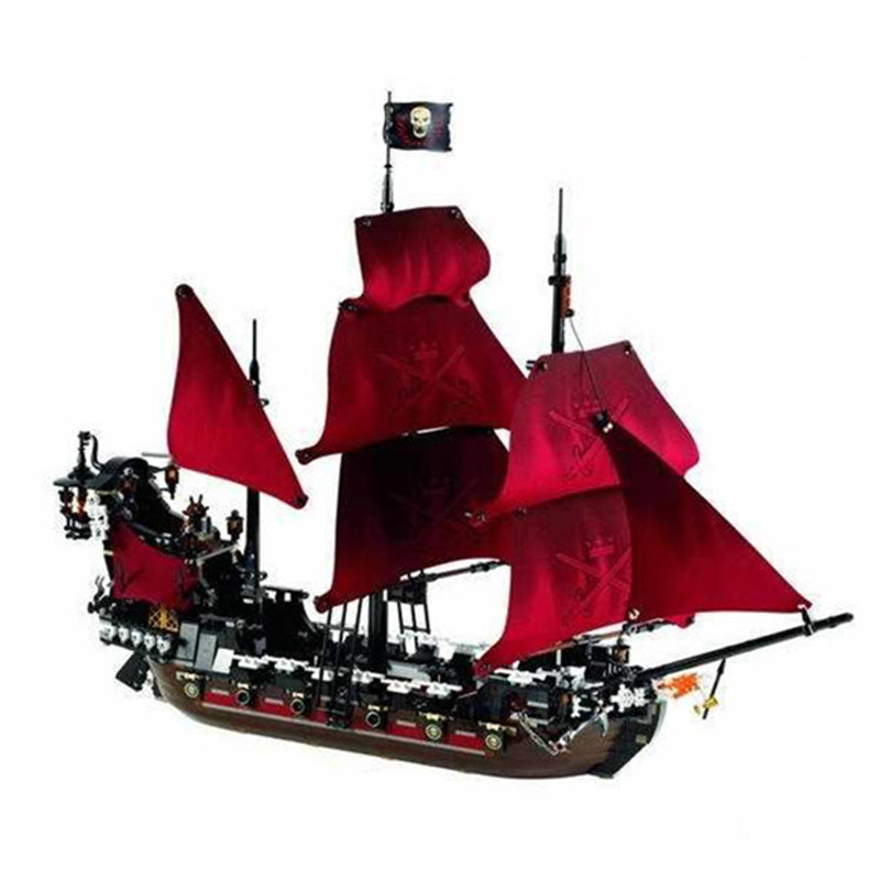2017 NEW LEPIN 16009 1151Pcs Pirates Of The Caribbean Queen Anne's Reveage Model Building Kit Blocks Brick Toys 1717pcs new 22001 pirates of the caribbean imperial flagship diy model building blocks big toys compatible with lego