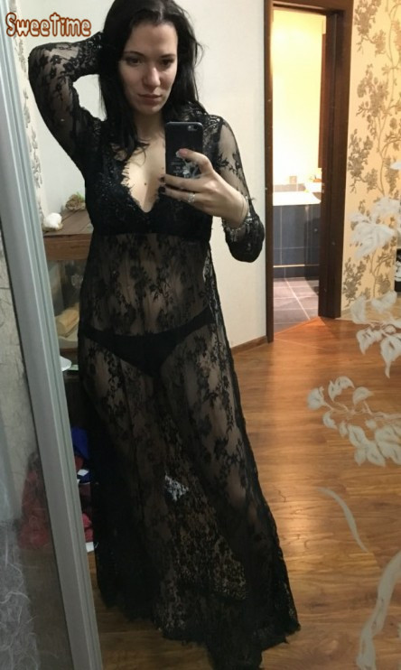 2016 Lace Deep V-neck Transperant White/Black Maternity Long Dress Pregnant Photography Props Fancy Pregnancy Summer Beach Dress black deep v neck floral embroidered lace lingeries