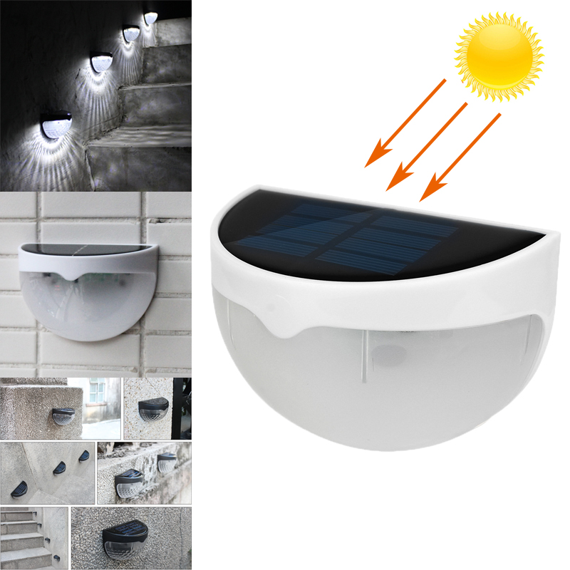 Warm White Waterproof Solar Patio Outdoor Wall Decor Fence Wall Lamp Stairs