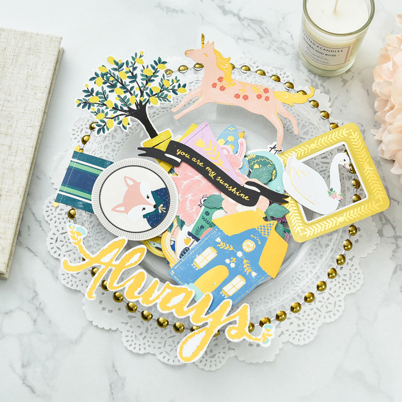 You Are My Sunshine Paper Cardstock Die Cut Stickers for DIY Scrapbooking/photo album Decoration Card Making Crafts