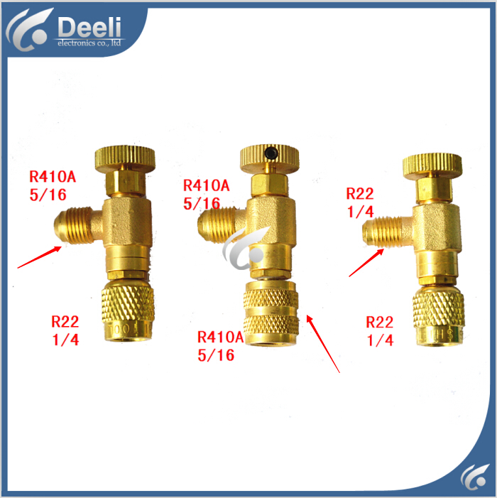 3pcs/lot new Air Refrigeration Charging Adapter refrigerant retention control valve Air conditioning charging valve R410A R22 hs 1221 hs 1222 r410a refrigeration charging adapter refrigerant retention control valve air conditioning charging valve