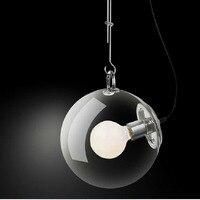 30CM DIY Ceiling Lamp Ball Bubble Clear Glass Pendant Lighting Edison Bulb Home Cafe Bar Dining
