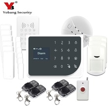YoBang Security 433MHZ WIFI GSM Alarm System Touch Screen IOS Android APP Home Burglar Alarm System