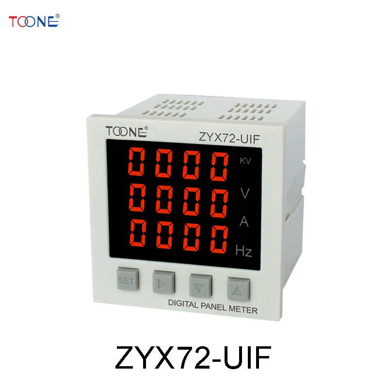 Single-phase AC digital display intelligent current and voltage frequency combination table ZYX72-UIF / SX72 * 72AVHz three phase ac digital display intelligent current and voltage table zyx96 3ui two in one power meter