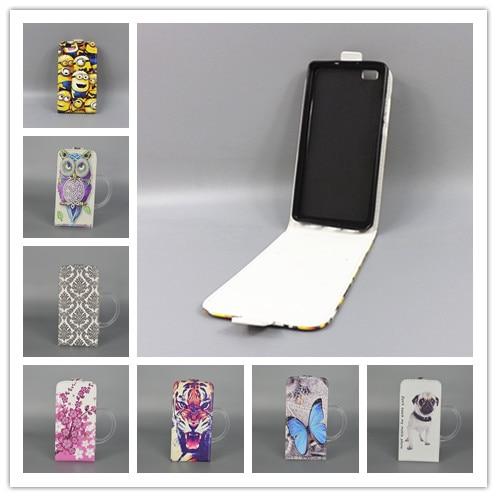 Для Huawei Ascend P8 Lite Горячая Pattern Симпатичные PrintingVertical Открытой Крышкой Вниз/вверх Назад Крышка filp кожаный чехол