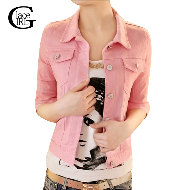 Colored denim jackets for women
