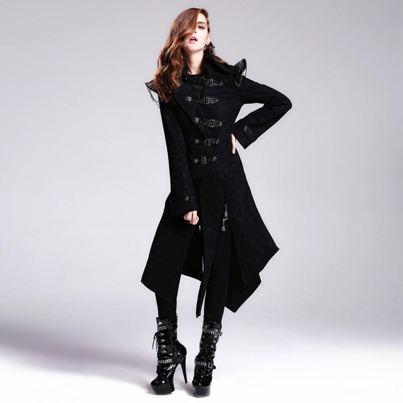 Devil Fashion Heavy Punk Rock Asymmetrische Langjacke Mäntel für - Damenbekleidung - Foto 1