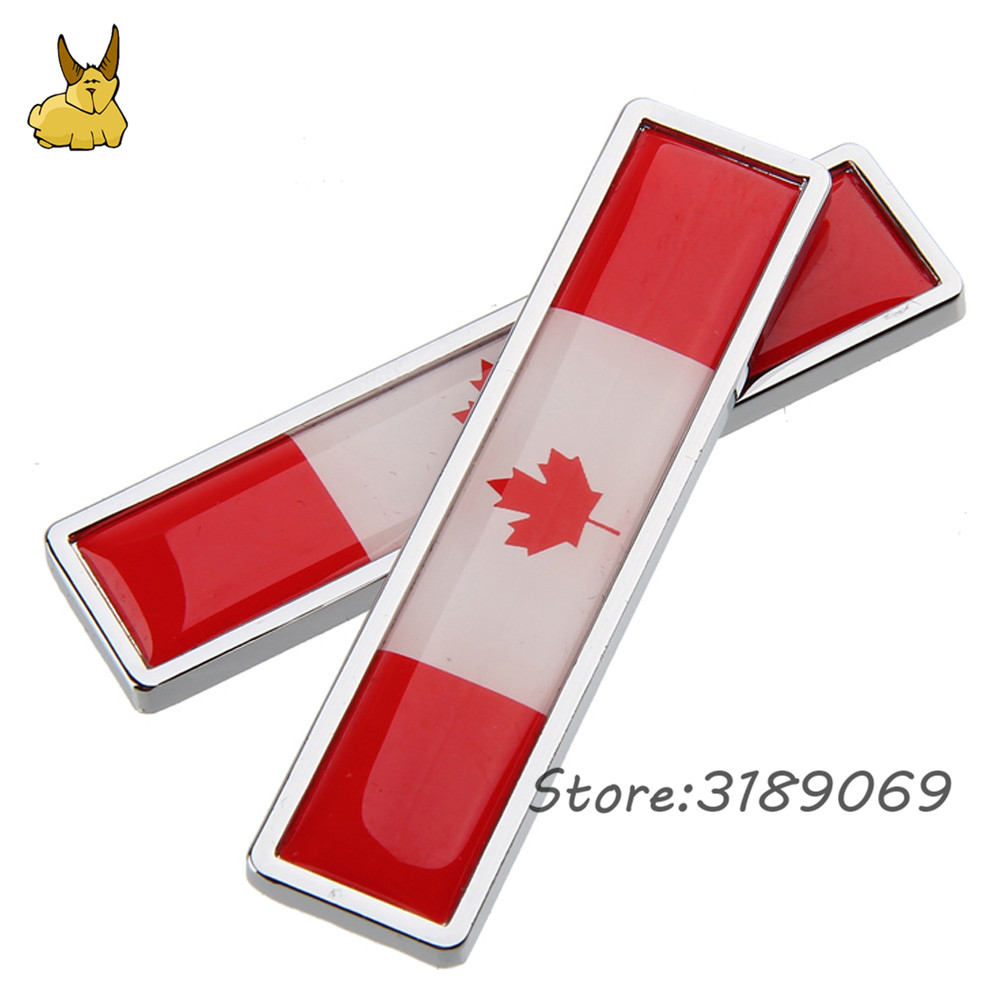 Universal car decoration decal side door sticker for canadian flag logo ford kuga honda cr v rv4 chevrolet mazda cx 5 nissan kia