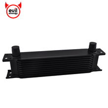 Universal 10 Row 10AN Aluminum Engine Oil Cooler Transmission Cooler  Racing  Oil Cooler Raditor Sliver